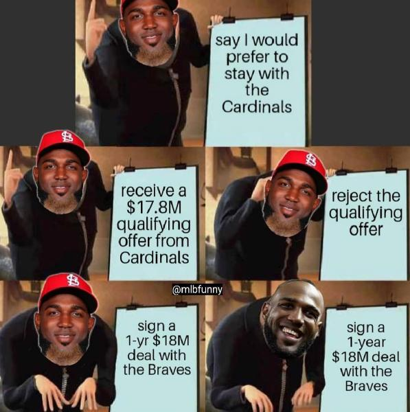 1 yr deal with the braves