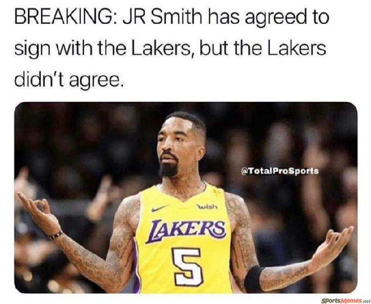 JR Smith goes to Lakers