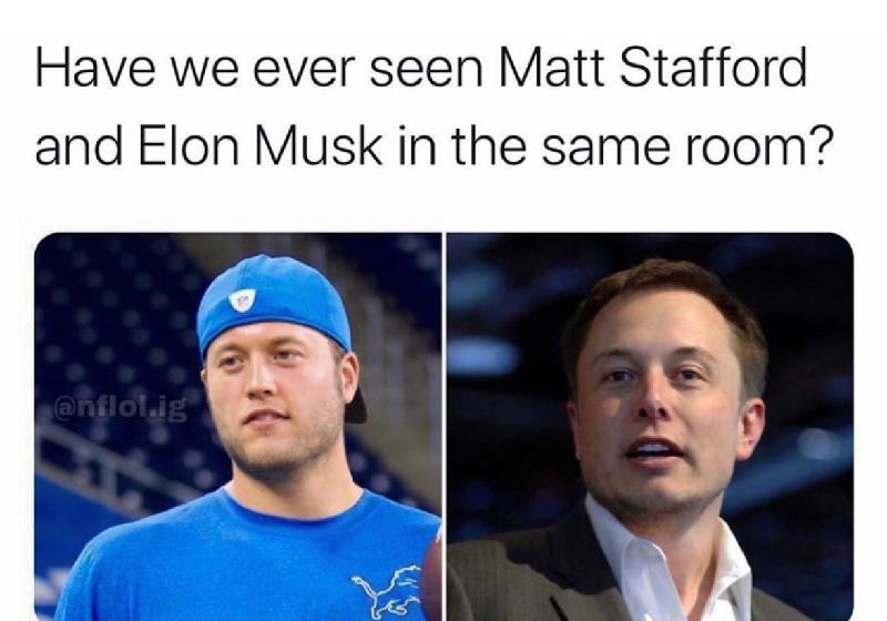 Matt Stafford and Elon Musk