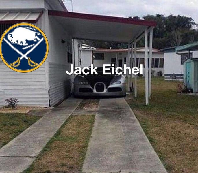 Jack Eichel and team