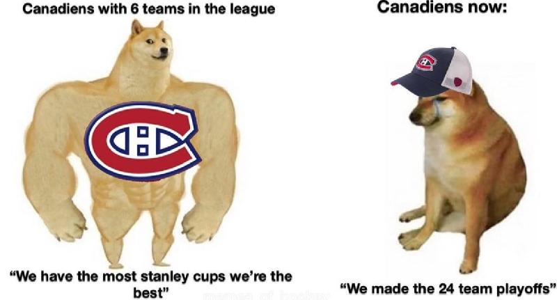 Canadians then vs now