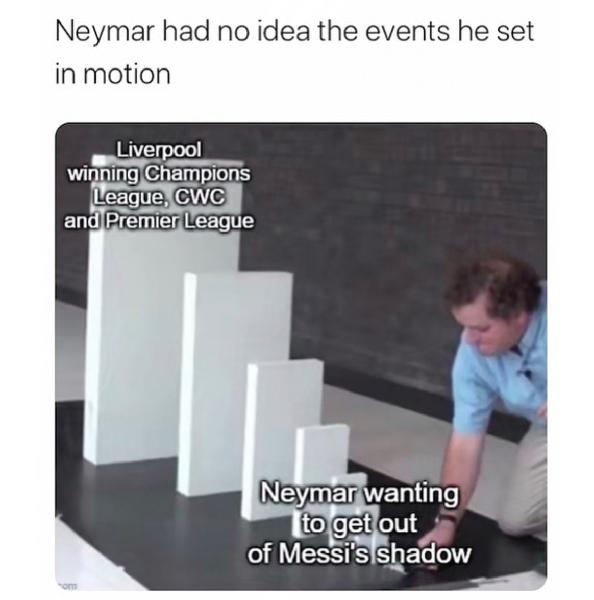 Neymar had no idea