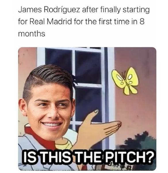 James Rodriguez confused
