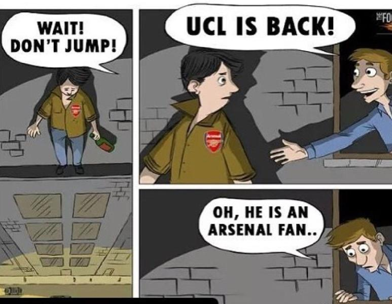 Arsenal Fans suffering