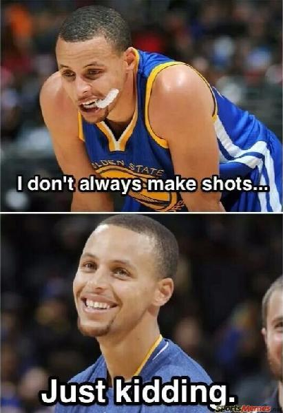 Stephen Curry never misses
