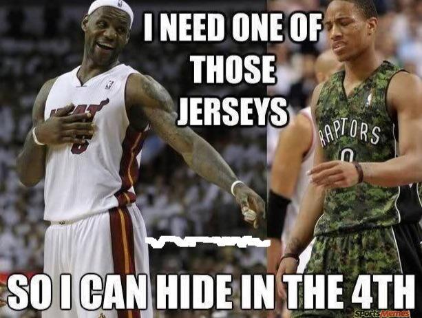 Lebron hiding
