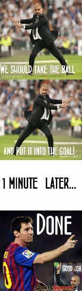 Messi scoring