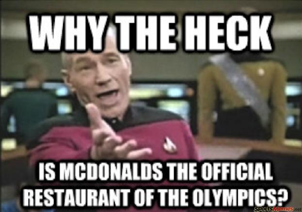 McDonald's official sponsor of the Olympics