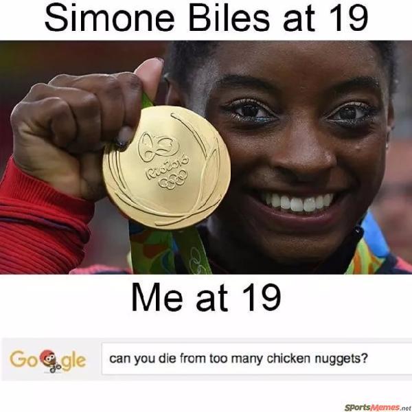 Simone Biles vs Me