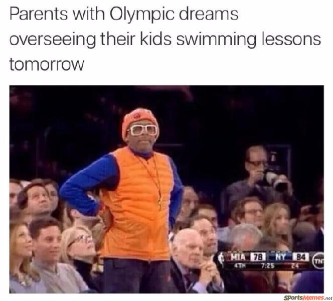 Parents and the olympics
