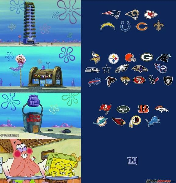 NFL teams and spongebob