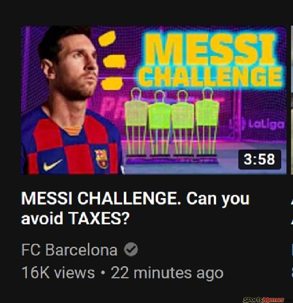 Messi Taxes Challenge