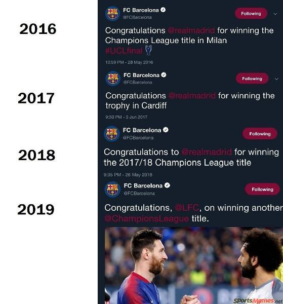Barcelona Champions League Failure