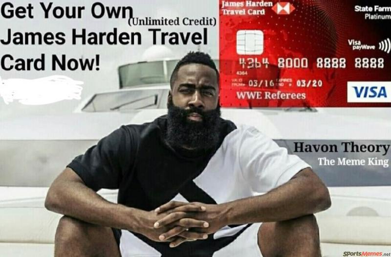 James Harden Travel Card