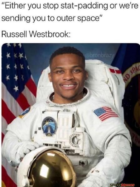Russel Westbrook the astronaut