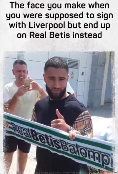 When real betis sign you instead of liverppol