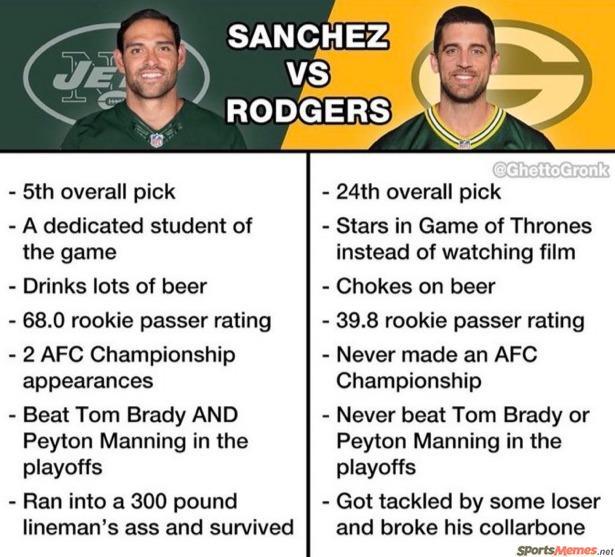 Sanchez vs Rodgers