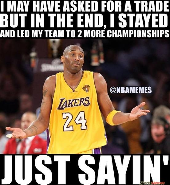 Kobe asked for trade