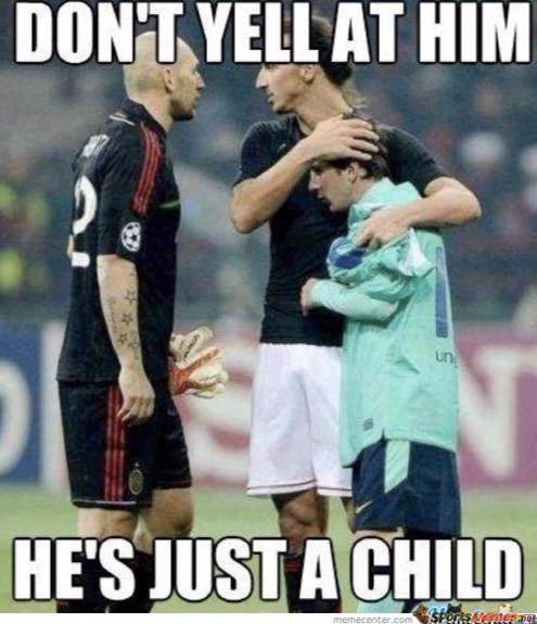 Messi is a child