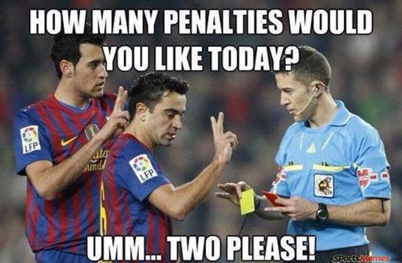 Barcelona's penalties